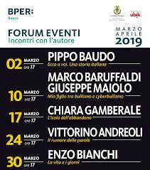 Member since jul 20th 2020. Forum Eventi Marzo 2019 Incontri Con L Autore Bper Banca