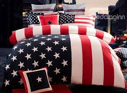 patriotic american flag stars and stripes fluffy 4 piece bedding sets duvet cover