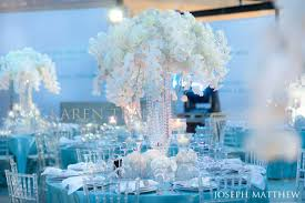 Turquoise And White Wedding Decorations Elaborate Blue And White Wedding Reception Centerpieces The