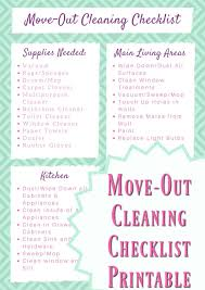Move Out Cleaning Checklist Printable