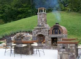 image of decorative outdoor fireplace with oven
