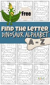 All the drawings in this little booklet are my own. Free Find The Letter Dinosaur Alphabet Fun