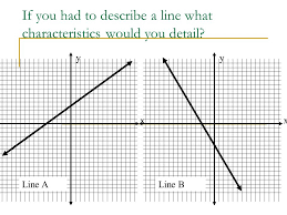 if you had to describe a line what characteristics would you detail