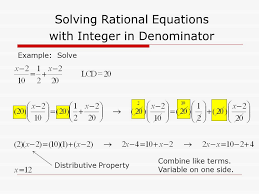 5 solving rational equations with integer in denominator