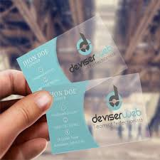 Clear Plastic Business Cards Budget Printing Group