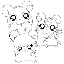 Hamtaro Paradijs Kleurplaat Panda Sandy En Cappy