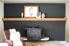 easy wood mantel for brick fireplace