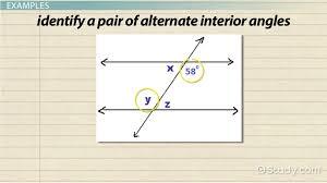 alternate interior angles definition theorem examples lesson transcript study com