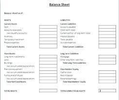 Financial Balance Sheet Template Company Balance Sheet Template Free Balance Sheet Template