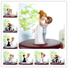 Funny Wedding Cake Topper Fat Couple Style Bride Groom Cake Topper