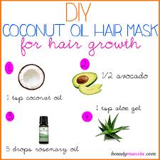 diy coconut oil hair mask for hair