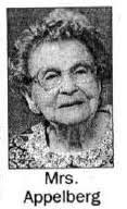 Ida Robertson Appelberg (1905-2003) - Find A Grave Memorial