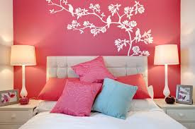 pink wall paintPink And Red Wall Paint Designs For Small Bedrooms  Shoisecom