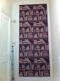 the wallpaper above is designed by young battaglia it covers my son s bedroom door and he is thrilled that it makes his room well almost invisible