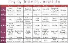 30 Days Diet And Exercise Plan Sada Margarethaydon Com