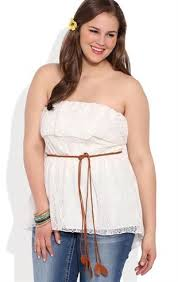 plus size tube tops deb shops plus size high low crochet ruffled lace tube top with
