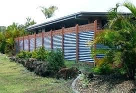 corrugated metal fencing ideas fence design designs