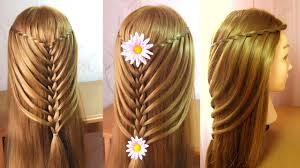Tresse Cascade Torsad E Tuto Coiffure Cheveux Long Mi Long