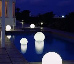 swimming pool lighting options. Floating Globe Lights Swimming Pool Lighting Options L