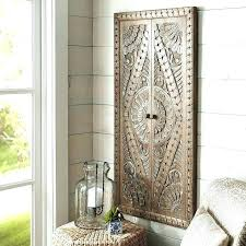 wood medallion wall art and metal decor square scrolled