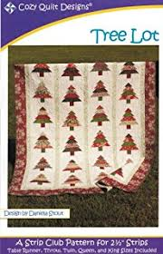 Amazon.com: Christa Quilts String of Pearls Quilt Pattern 4 Sizes & Tree Lot Quilt Pattern, Jelly Roll 2.5