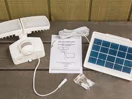 install a solar panel security light