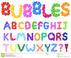 bubbles alphabet