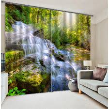 Office drapes Design Forest Stream Luxury Blackout 3d Curtains For Living Room Bedding Room Office Drapes Cotinas Para Sala Pinterest Forest Stream Luxury Blackout 3d Curtains For Living Room Bedding