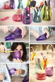recycled plastic bottles makeup organizer
