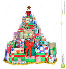 Christmas Tree Of Presents Stock Image - Image: 17297141