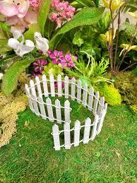 white picket fence fairy gardens uk