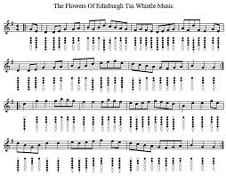 Traditional Irish Music Charts Flowers Of Edimburgh Chart In 2019 Tin Whistle Bagpipe
