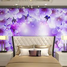 bedroom purple and white. Beibehang Wall Panels Purple White Floral Flowers Papel De Parede 3d Wallpaper For Living Room Bedroom And