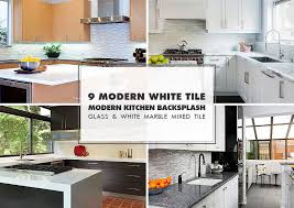 9 white modern backsplash ideas