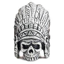 men s sterling silver indian chief skull pendant