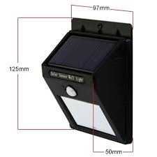 6 Led Solar Powered Outdoor Wall Light  Best Solar Garden Lights Solar Led Wall Lights