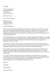Social Work Graduate Student Internship Cover Letter