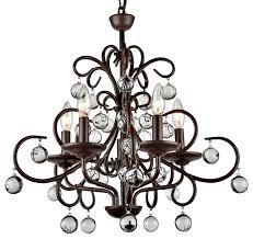 kelly modern stylish crystal 5 light chandelier