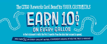 earn 10cents on every gallon in fuel statement credits the first 3 months from the date