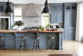 blue grey kitchen cabinets. Interesting Grey Blue Grey Kitchen Cabinets Butcher Block Get The Look With Formica39s New  Woodgrain Laminates Decor Pinterest
