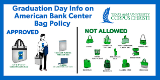 american bank center bag policy