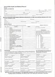 Sample Bsa Medical Form Bsa Medical Forms Resume Template Sample 7