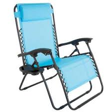 folding lawn chairs. Oversized Zero Gravity Patio Lawn Chair In Blue Folding Chairs L