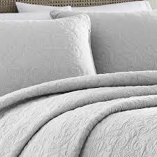 Laura Ashley Felicity Soft Grey Cotton 3-piece Quilt Set - On Sale ... & Laura Ashley Felicity Soft Grey Cotton 3-piece Quilt Set - On Sale - Free  Shipping Today - Overstock.com - 18297511 Adamdwight.com