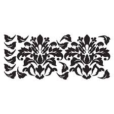 black damask wall decals