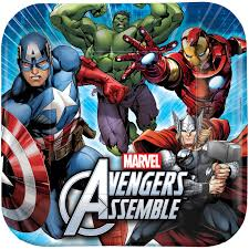 Avengers Party Decorations Avengers Assemble Squared Dinner Plates Birthdayexpresscom