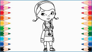 Doc Mcstuffins Coloring Pages Disney Junior Lovely How To Draw Doc