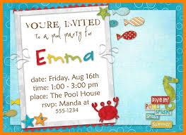 Birthday Invite Samples Templates Word Invitation Sample Design