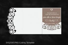 Wedding Invitation Templates With Photo Lace Wedding Invitation Template Laser Cut Pocket Invitation
