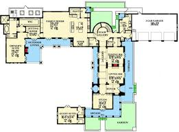 Stunning Spanish Revival House Plan   KA   st Floor Master    Floor Plan